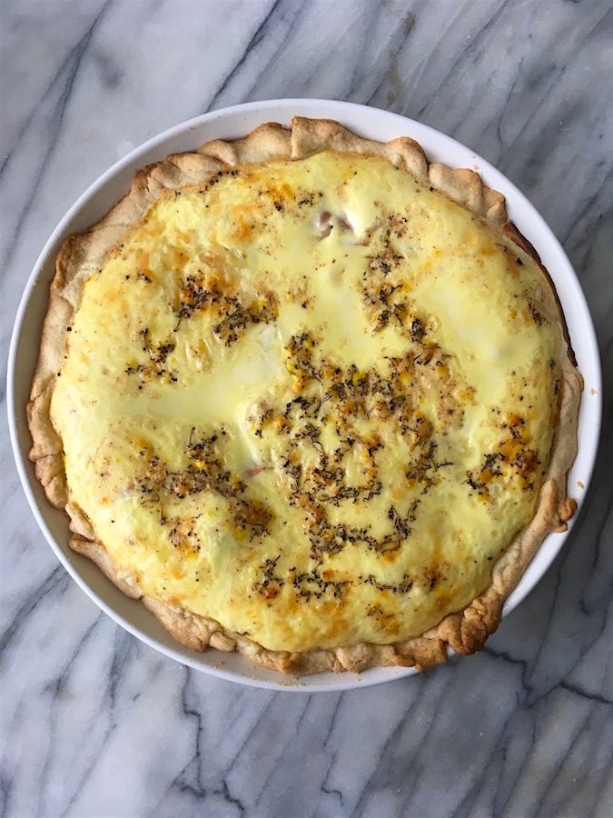 ham and cheese quiche recipe whole pie
