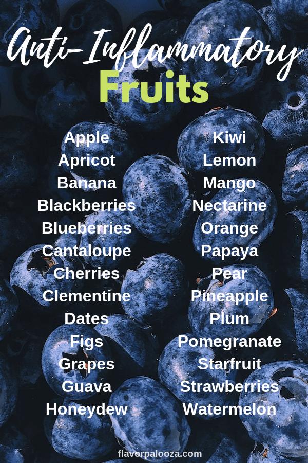 On an anti-inflammatory diet? Here's a complete list of anti-inflammatory fruits to choose from.