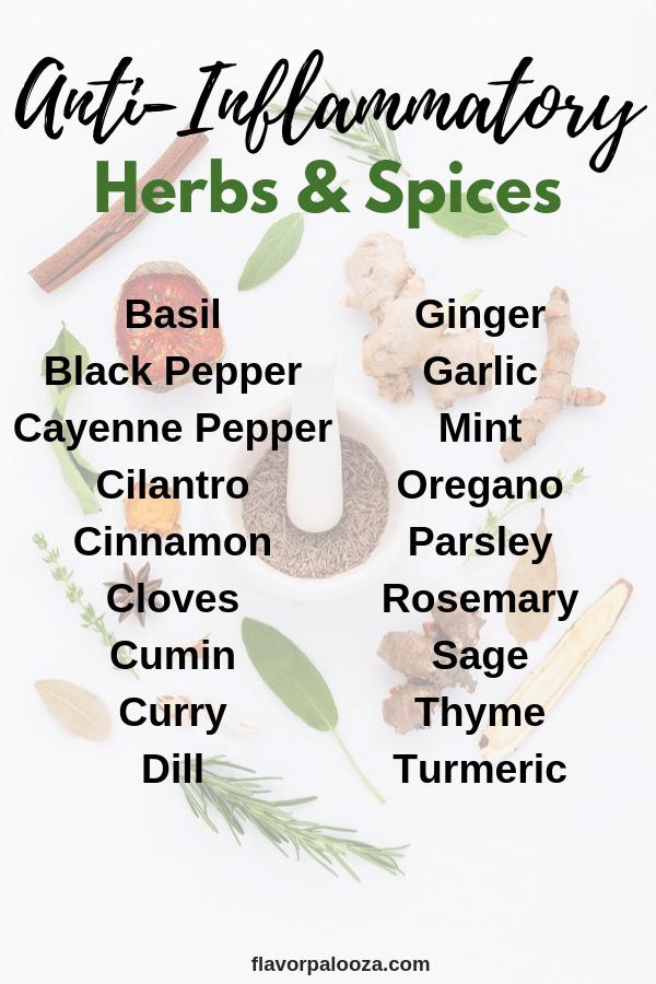 Anti-Inflammatory Spices & Herbs   Flavorpalooza