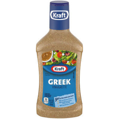 Kraft Greek Vinaigrette - keto-friendly salad dressing