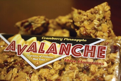 An Avalanche nut free protein bar.