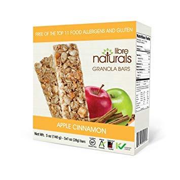 A box of Libre Naturals apple cinnamon granola bars.