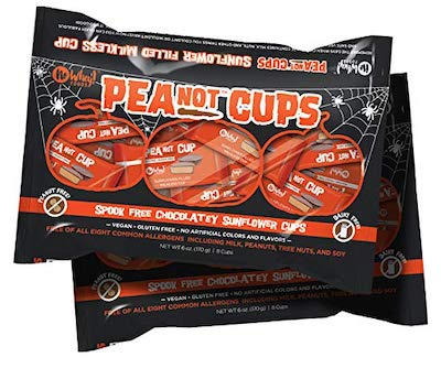 A bag of Halloween sized PeaNOT Cups from No Whey Foods